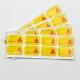 Autocollant 3D – Doming Fond jaune personnalisable