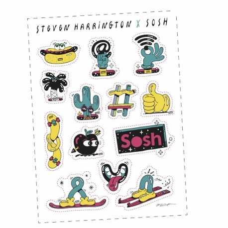 Planches de stickers publicitaire