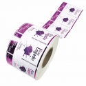 Stickers en rouleaux personnalisable - fond blanc brillant
