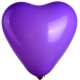 Ballon Coeur Publicitaire violet
