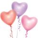 Ballon Coeur personnalisable couleurs métalliques