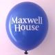 ballons publicitaire bleu - marquage 1 couleur