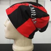 Bonnet publicitaire imprimé polaire - noir et rouge