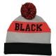Bonnet tricoté personnalisable - black à plat