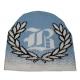 Bonnet tricoté personnalisable - bleu ciel à plat