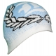 Bonnet tricoté personnalisable - bleu ciel