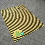 Couvertures publicitaire noir et jaune - personnalisable