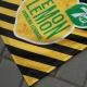 Couvertures publicitaire noir et jaune - marquage logo