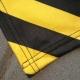 Couvertures publicitaire noir et jaune - couture bordure