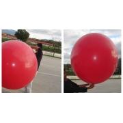 Grand Ballon Rond publicitaire - rouge