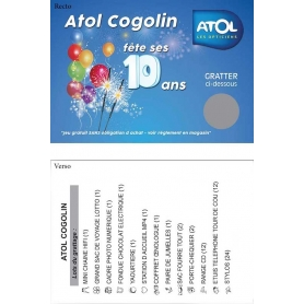 Tickets et cartes à gratter personnalisables