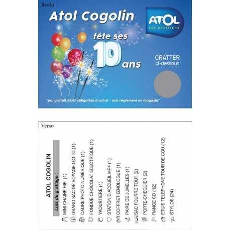 Tickets/cartes à gratter publicitaire - ATOL