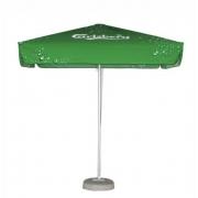 Parasol carré publicitaire : 2 mètres