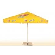 Parasol carré publicitaire personnalisation logo Lipton- 3 mètres
