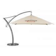 Parasol déporté  publicitaire carré 3,5 mètres