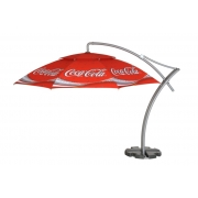 Parasol déporté publicitaire rond 3,5 mètres