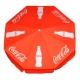 Parasol rond publicitaire personnalisation coca cola 1,80 mètres - vu s'en haut