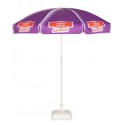 Parasol rond publicitaire - personnalisation violette 2 mètres