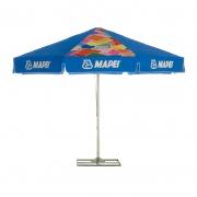 Parasol rond publicitaire marquage bleu - 3 mètres