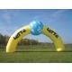 Arche gonflable publcitaire jaune et bleu personnalsé