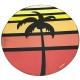 Serviettes de plage à la forme personnalisé - forme ronde
