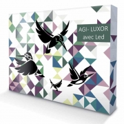 Luxury stand  POP UP - AGI - LUXOR - Straight - LED