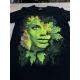Textile impression directe publicitaire - marquage vert sur t-shirt noir