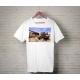 Textile impression directe personnalisé t-shirt blanc
