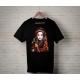 Textile impression directe personnalisé t-shirt noir