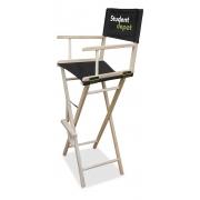 Chaise haute de directeur publicitaire - fond noir marquage Logo