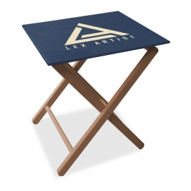 Advertising folding table
