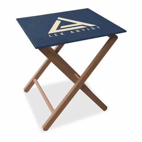 Advertising folding table