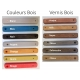 Tabouret publicitaire couleurs bois et vernis bois disponibles