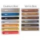 Transat banc publicitaire - couleur bois et vernis disponible