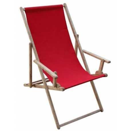 Transat Comfort publicitaire tissus rouge