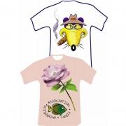 Transferts quadrichromie publicitaire sur T-shirt
