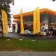 Oriflamme – windflag publicitaire forme standard impression jaune et logo