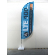 Oriflamme – windflag publicitaire bord bas arrondie taille Small