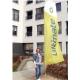 Oriflamme – windflag publicitaire bord bas carré taille XL