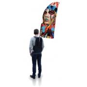 Drapeau sac à dos personnalisable - format windflag sans contour
