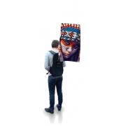 Drapeau sac à dos personnalisable - format windsquare sans contour