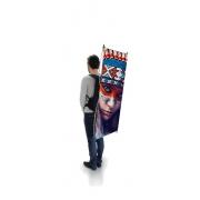 Drapeau sac à dos personnalisable - format X-banner sans contour