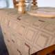Recycled and kraft paper: tablecloth and placemat