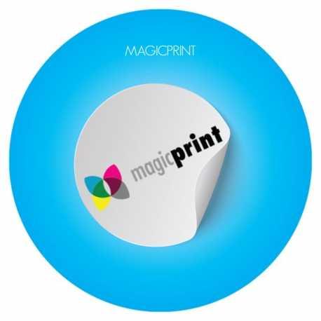 Stickers fond blanc personnalisable découpe à la forme