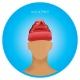 Bonnet imprimé polaire - bonnet publicitaire bleu
