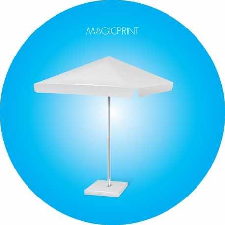 Parasol carré publicitaire : 1,25 mètres