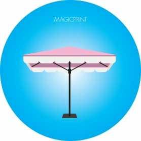 Parasol carré publicitaire : 1,35 mètres