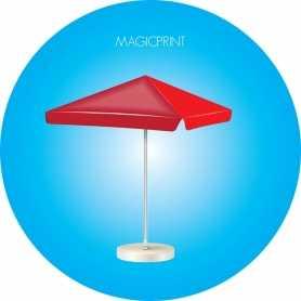 Parasol carré publicitaire - 4 mètres
