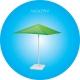 Parasol carré 3,50 mètres