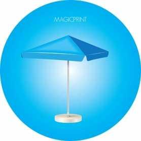 Parasol carré publicitaie 5 mètres - Mat renforcé